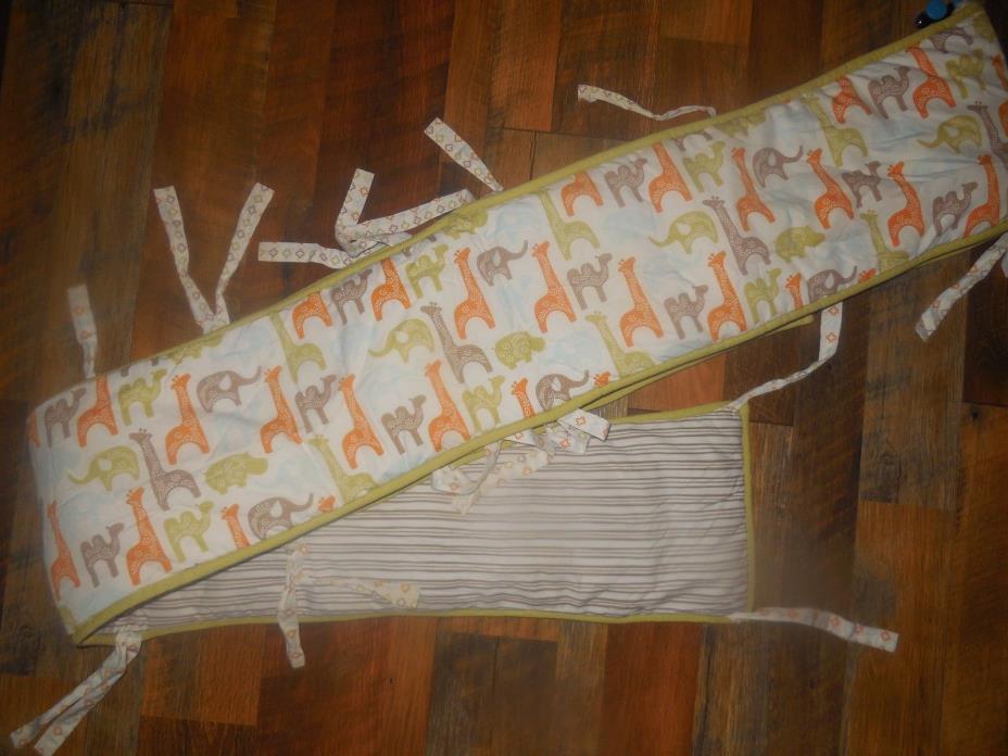 Dwell Studio from Target Safari Animals  with Stripes Crib Bumper Pad Nursery