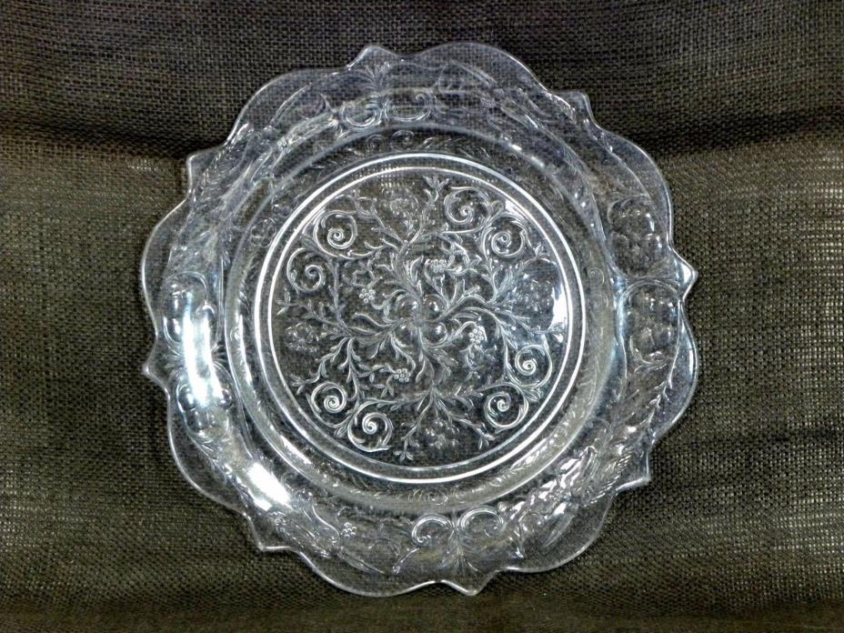 McKee Glass Rock Crystal Dinner Plate 11
