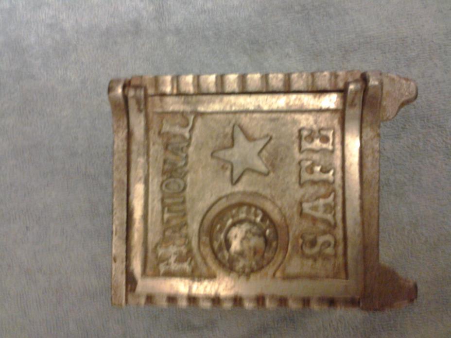 vintage steel national safe bank toy