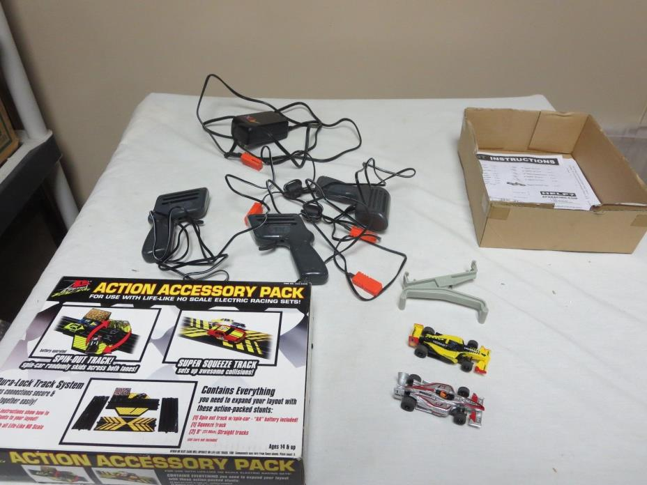 2 INDY AFX SLOT CARS AND TRACK SET