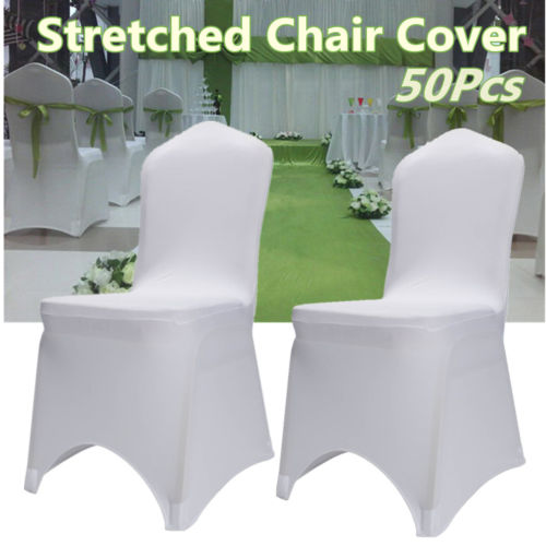 50X Spandex Lycra Stretch Fitted Chair Covers Wedding Banquet Party Event Arched