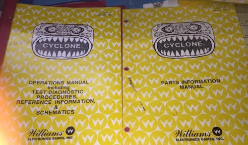 Williams Pinball Machine CYCLONE Operations & Schematics Manual 1988