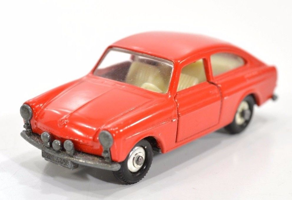 Vintage Lensey Matchbox VW 1600TL Red Nice Shape