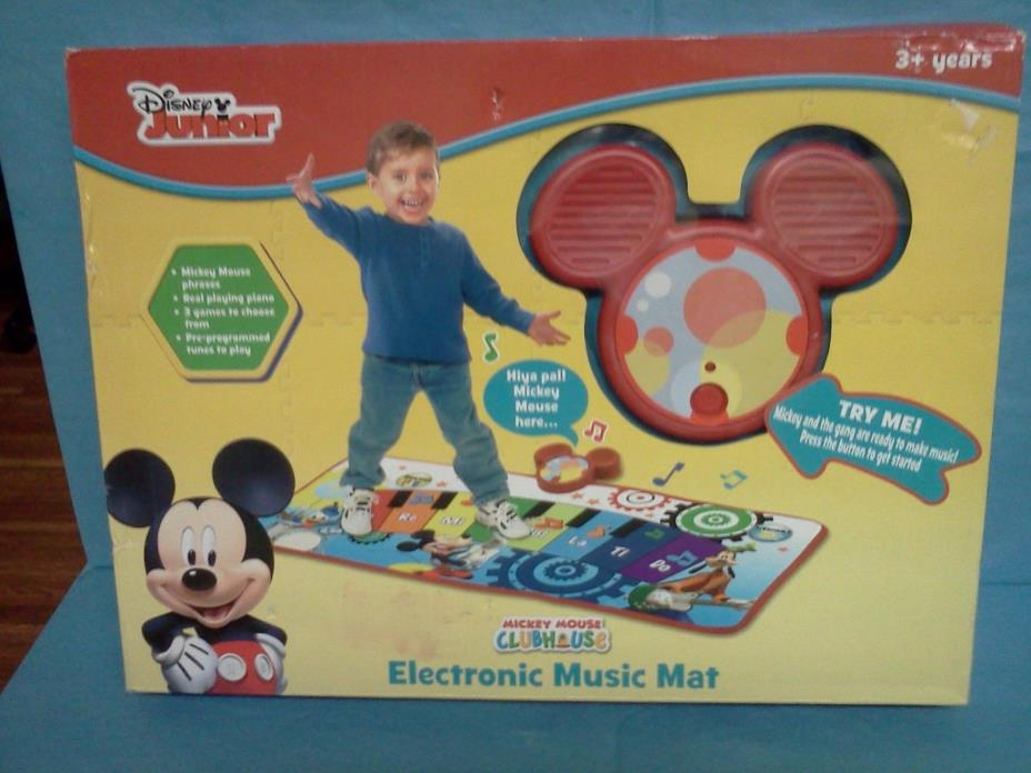 NEW DISNEY MICKEY MOUSE INTERACTIVE ELECTRONIC FLOOR PIANO MUSIC MAT