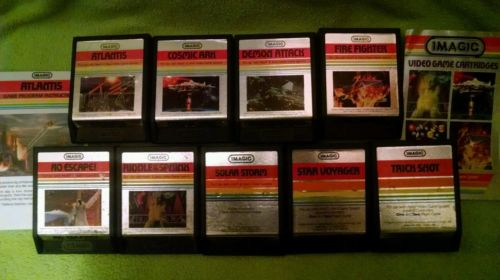 Atari 2600/7800  IMAGIC silver label lot with manual and catalogue