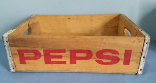 Vintage Wooden/Wood Pepsi-Cola Soda Crate/Box