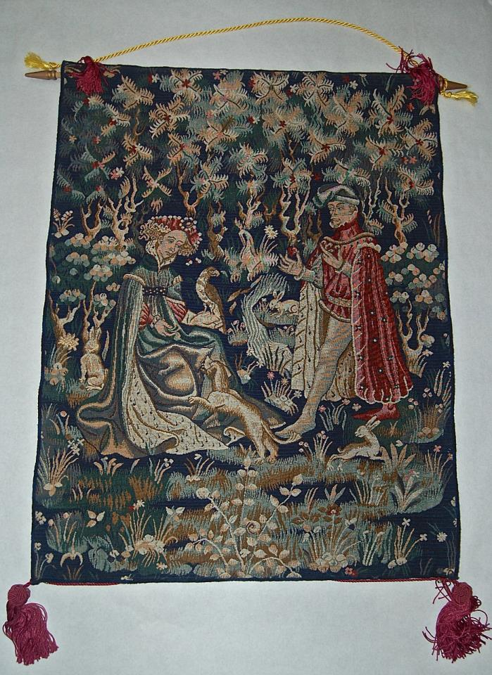 Comag Labeled Belgium Courtship Woven Tapestry