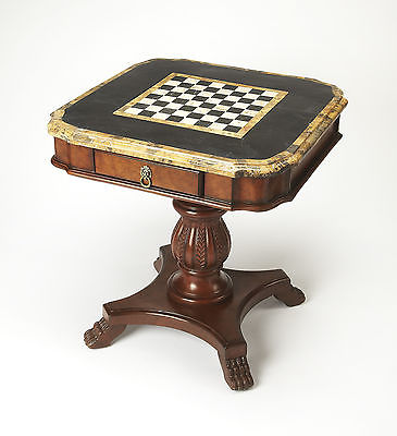 Butler Heritage Antique Pedestal Game Table