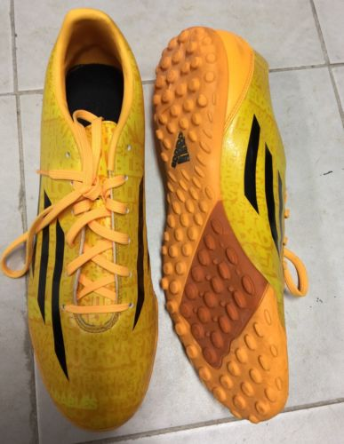 ADIDAS LIONEL MESSI F10 YELLOW BLACK SOCCER FOOTBALL TURF SHOE CLEATS MENS 11.5