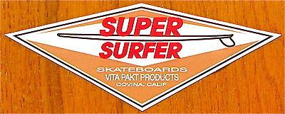 NEW VINYL VINTAGE 60/'S HOBIE COVINA SUPER SURFER SKATEBOARD STICKER