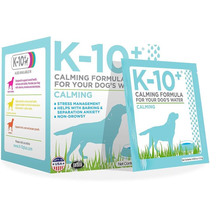 K-10+ Calming Formula for Your Dogs Water 28 packets