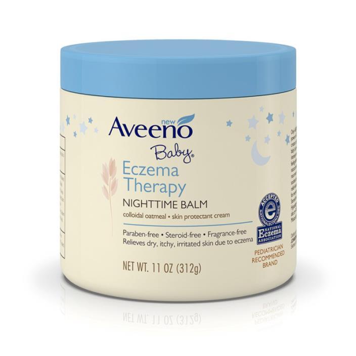 Aveeno Baby Eczema Therapy Nighttime Balm, 11 Oz