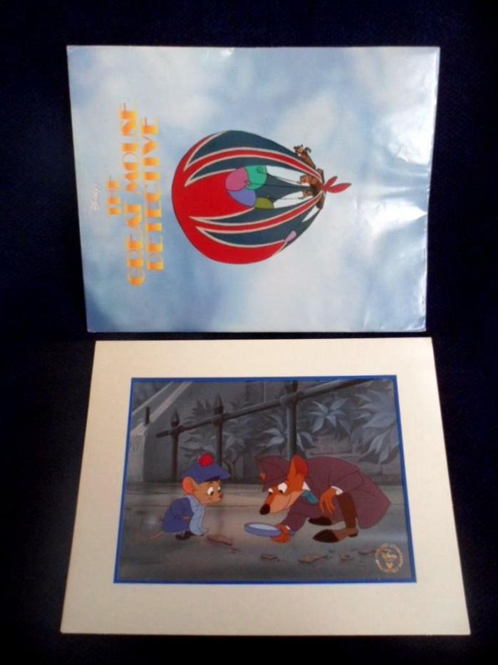 Disney Store Presale Lithograph: THE GREAT MOUSE DETECTIVE 1999 w/Mat & Envelope