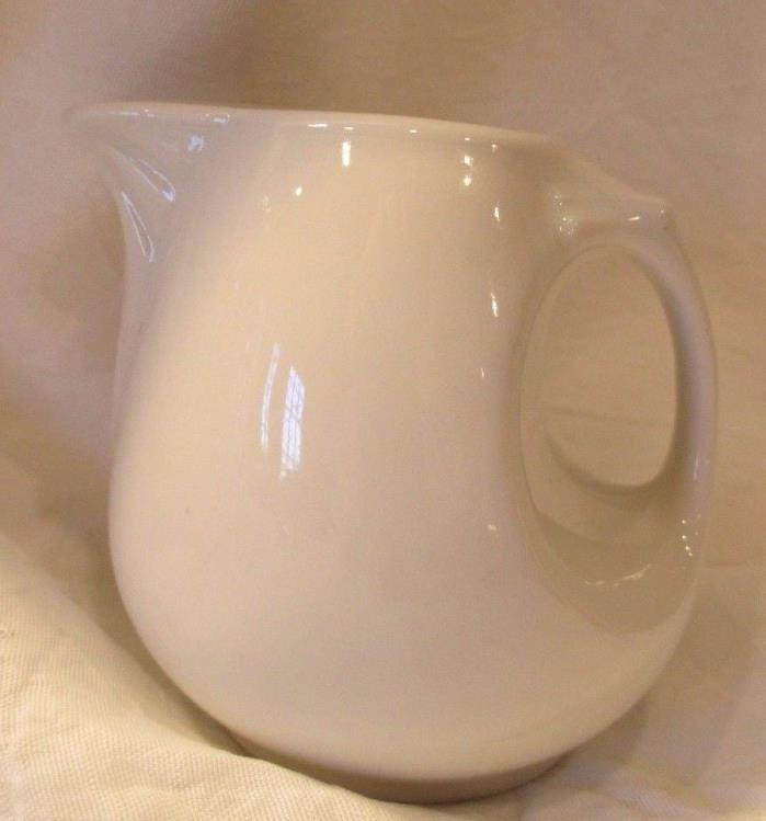 VINTAGE 1950's HALL 2073 RESTAURANT INDIVIDUAL CREAM PITCHER 3 oz  MINT COND