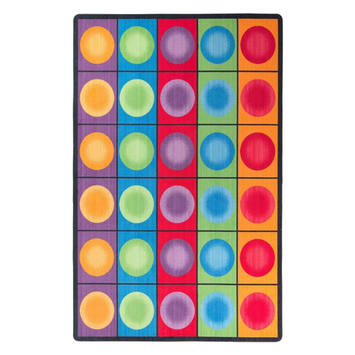 Flagship Carpets FE118-44A Dot Spots Seating Rug, Everyone Has a Spot on This Co