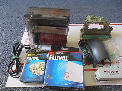 Fish Aquariums Equipments Kit/Fluval Water Filter/Air Pump/Mag Float