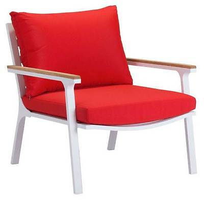 Upholstered Arm Chair in Red - Set of 2 [ID 3503793]