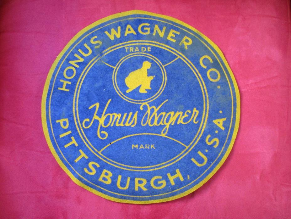 Vintage Honus Wagner Co Baseball Cloth patch Pittsburgh Pirates 12 Inches across