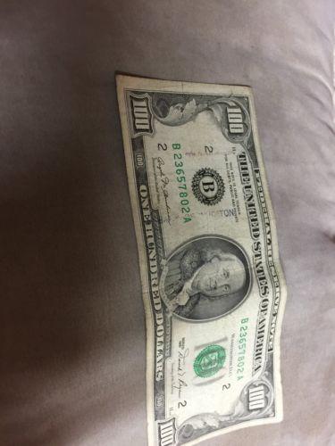 1981 100 Dollar Bill