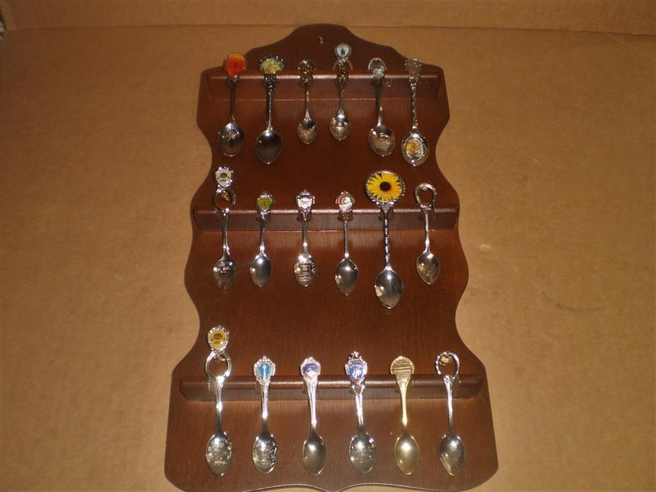 Souvenir Spoon Rack, Holds 18 Spoons, Spoons Included,  United States, Landmarks