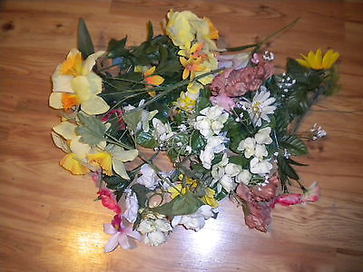 Collection Floral Lot Of Artificial Mixed Flowers Greens Stems 3