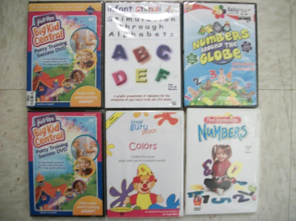 6 Baby DVDs 5  .NEW ! USED FREE SHIPPING