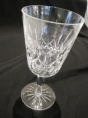 12-WATERFORD LISMORE STEMMED CRYSTAL WATER GOBLETS