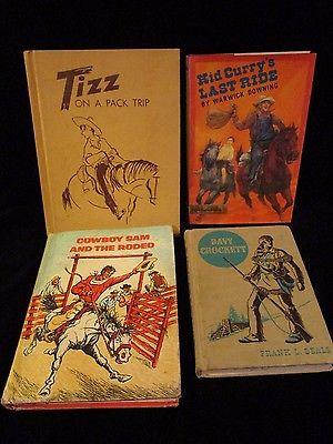 LOT 4 Cowboy Old West TIZZ PACK TRIP-CURRY'S LAST RIDE-COWBOY- SAM-DAVY CROCKETT