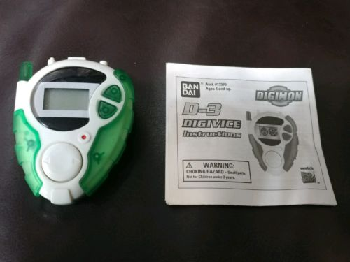 Digimon digivice D3 Clear Green