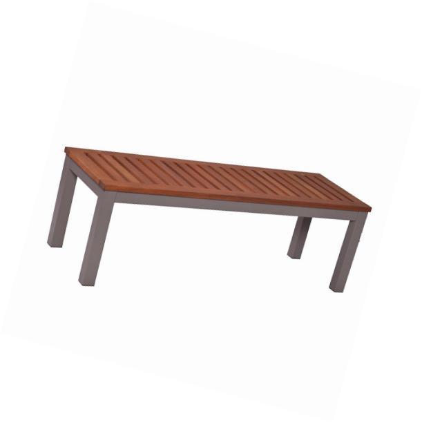 Mandalay Outdoor Backless Bench - Gray