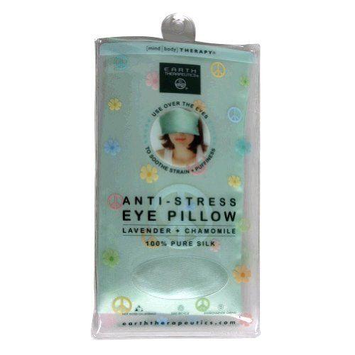 Earth Therapeutics Mind/Body Therapy Anti-Stress Eye Pillow, Lavender + Chamomil