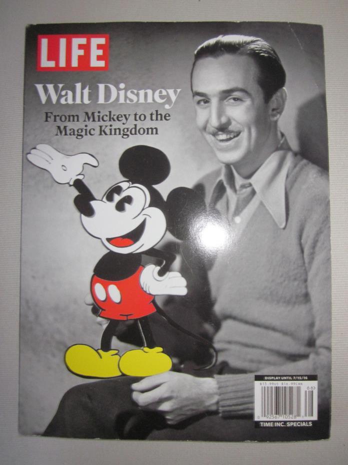 LIFE WALT DISNEY MICKEY TO MAGIC KINGDOM ,TIME SPECIAL SOFT BOUND BOOK,7/15/16