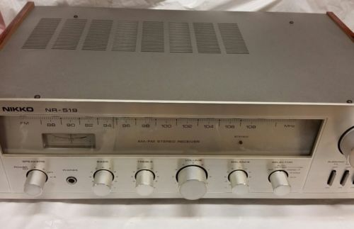Vintage Nikko NR-519 AM/FM Stereo Receiver Tested and Working Japan