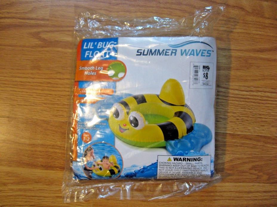 Polygroup SUMMER WAVES Little Bug Float Pool Beach Seat Toddlers Ages 1-2