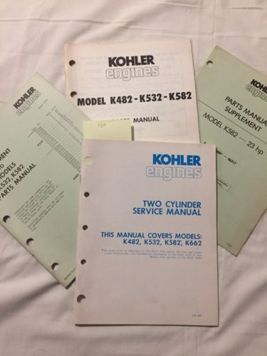 Kohler Two Cylinder Manual K482 K532 K582 K662 Service Repair Parts Engine 23hp