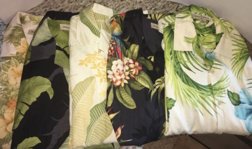Tommy Bahama Silk 5 Shirt Lot Size Medium Mint