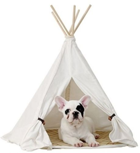 Little Dove Pet Teepee House Pet Bed Cat Bed Pet House Portable Dog Tents Pet