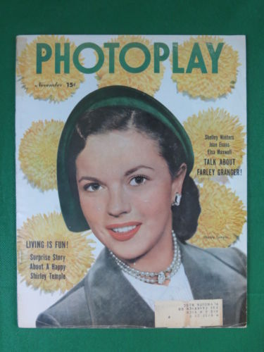 PHOTOPLAY Magazine SHIRLEY TEMPLE Cover November, 1950 Vol. 38, No. 5