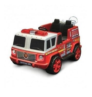 Electric Cars For Kids Fire Truck Ride On 12 Volt Battery Operated 2 Seater