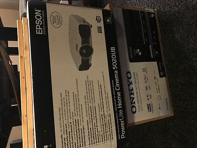 Epson Home Cinema 5020 LCD Projector 6 3d glasses