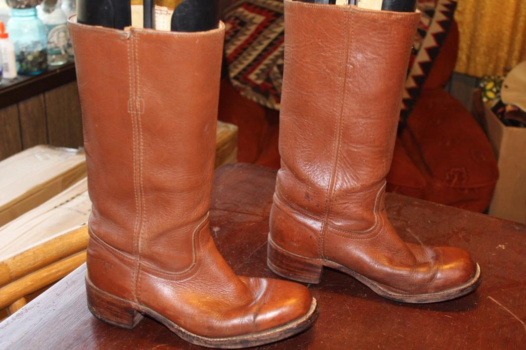 TALL VINTAGE FRYE CAMPUS ENGINEER BOOTS SIZE 9 D