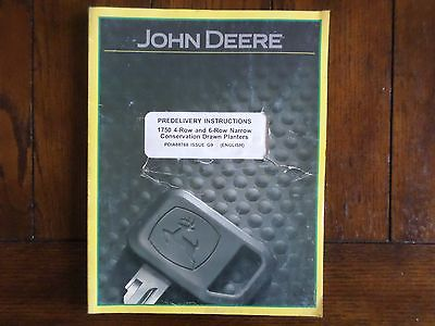 John Deere 1750 4 and 6 Row Narrow Conservation Drawn Planters Instructions
