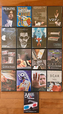LOT OF 17 DVD   with CARD MAGIC MENTALISM CLOSE-UP MAGIC