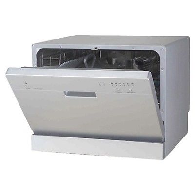Sunpentown Compact Dishwasher Portable Countertop Dish White New Washer Silver