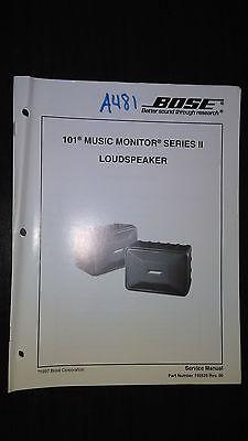 Bose Service Manual Speaker System original book 101 series II loudspeaker