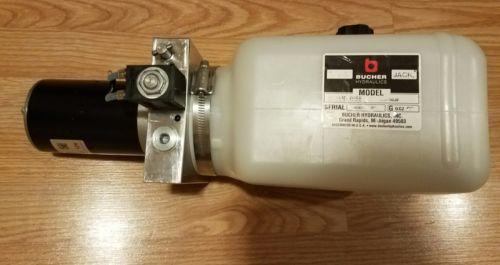 Bucher Hydraulics 12V DC Dyna Jack M-3519-0158 Power Motor Pump Tank Hydraulic