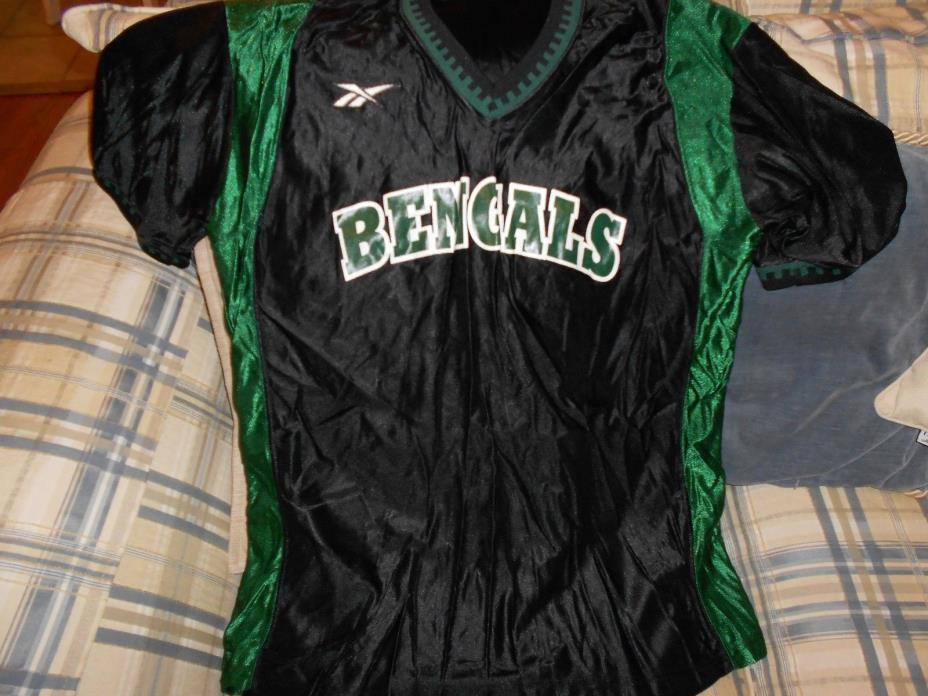 Bengals black basketball warmup jersey sz XL