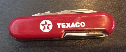 Vintage Wenger Texaco Logo Executive Golf Pro Swiss Army Folding Pocket Knife