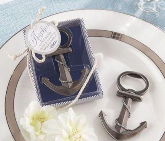 7 NEW Anchor Nautical- Beach Bottle Opener Wedding Shower Gift Favors In box