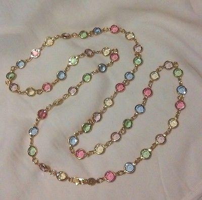 Swarovski  Vintage Bezel set Multi color Pastel Crystal 36